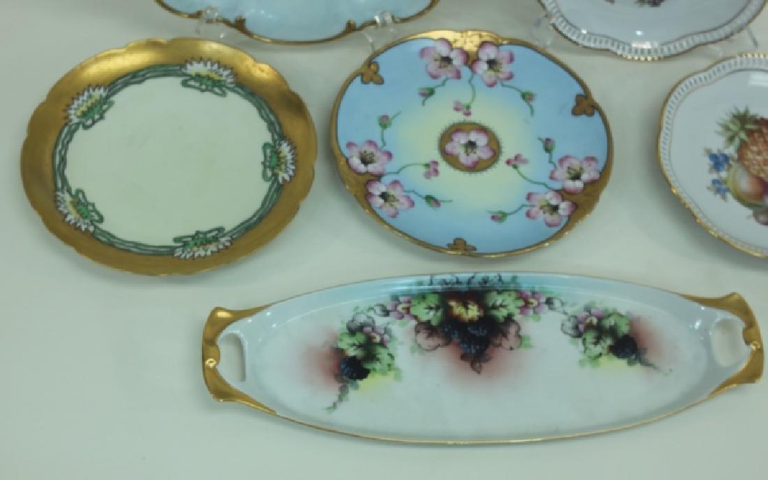 (6) Dresden Painted Porcelain Fruit & Cake Plates - 3