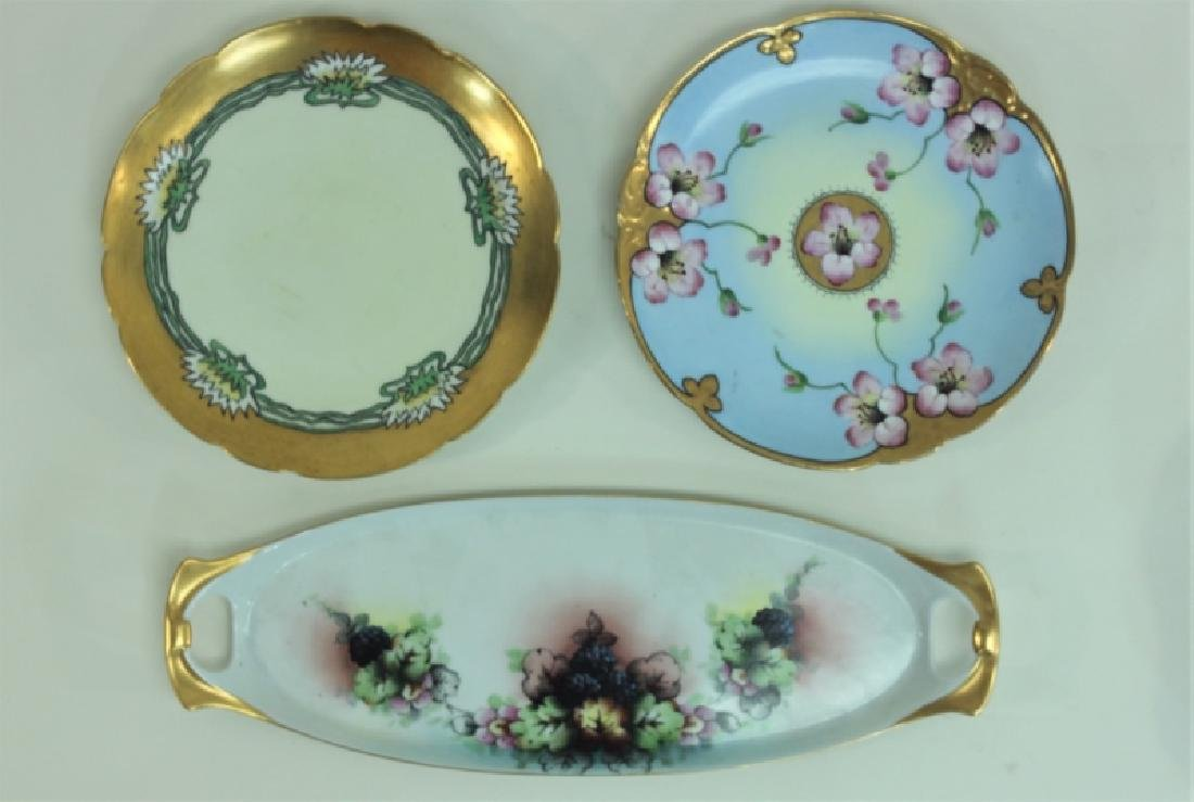(6) Dresden Painted Porcelain Fruit & Cake Plates - 4