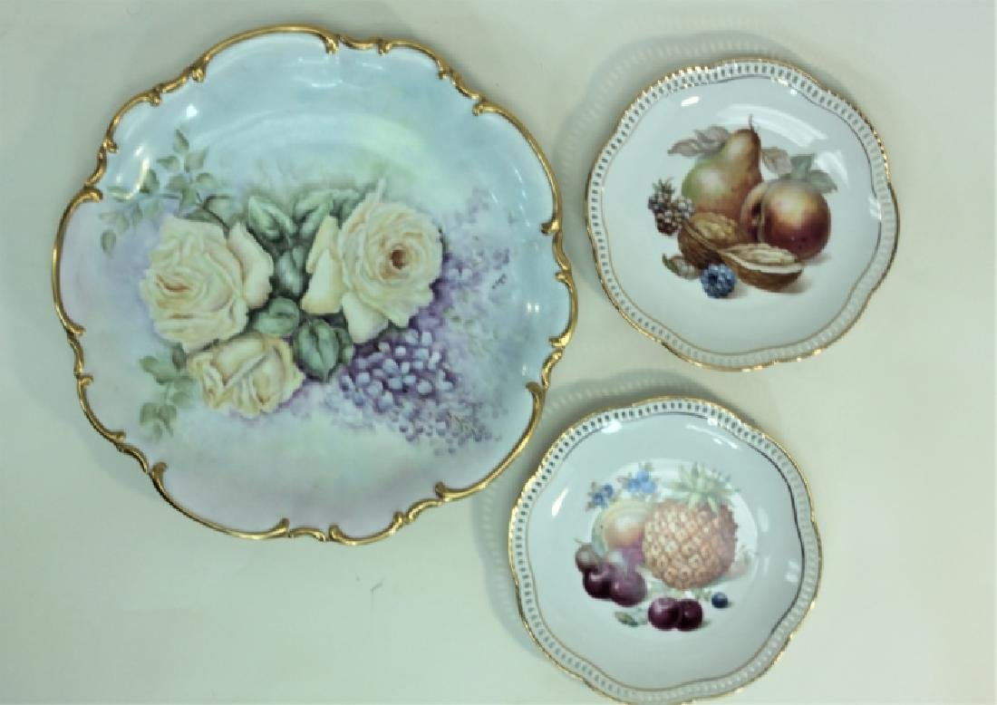 (6) Dresden Painted Porcelain Fruit & Cake Plates - 5