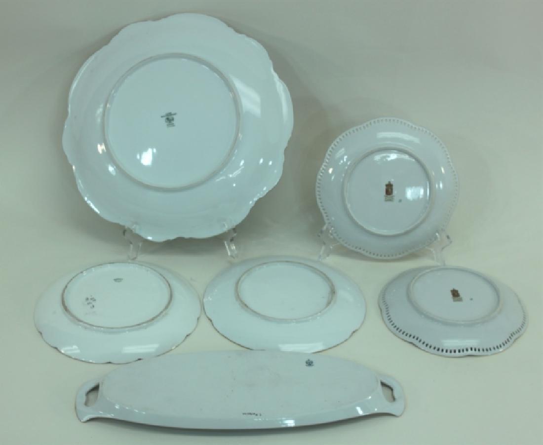 (6) Dresden Painted Porcelain Fruit & Cake Plates - 6