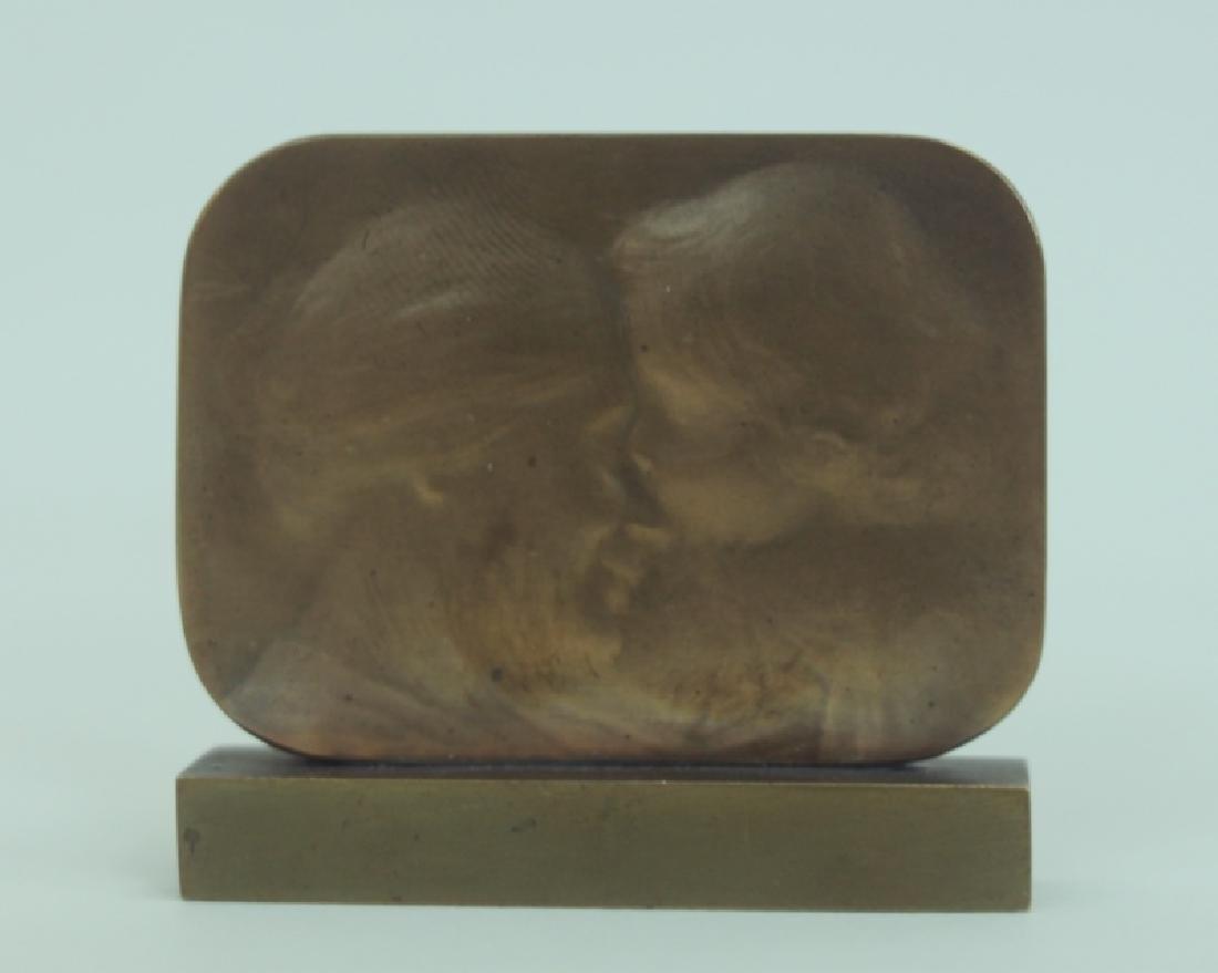 Ovide Yencesse 1869-1947 Art Nouveau Bronze Plaque