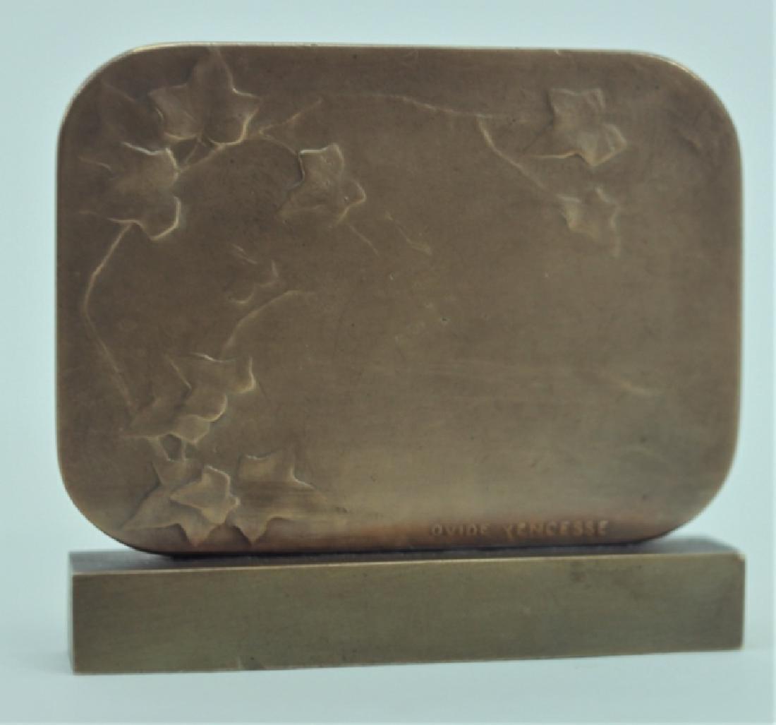 Ovide Yencesse 1869-1947 Art Nouveau Bronze Plaque - 2