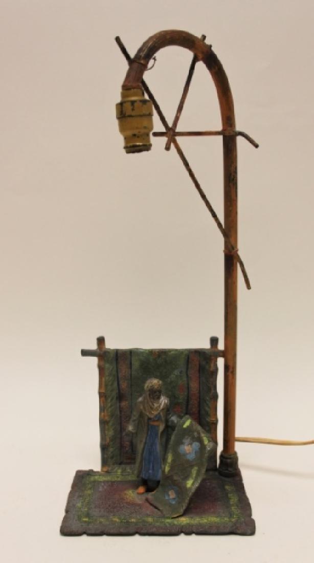 Vienna Orientalist Sculptural Lamp w Carpet Seller