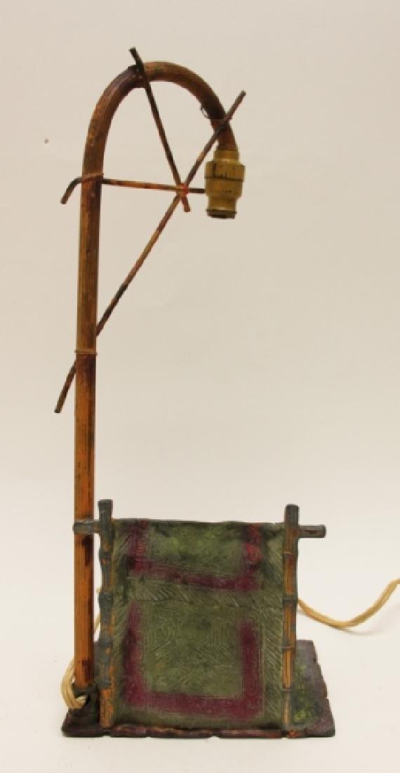 Vienna Orientalist Sculptural Lamp w Carpet Seller - 6