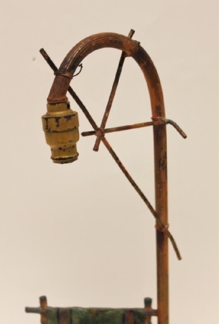 Vienna Orientalist Sculptural Lamp w Carpet Seller - 9