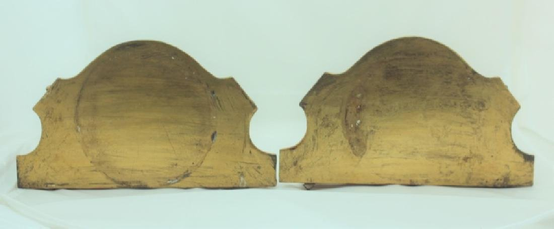 Pair Italian Gilt Wood Rococo Wall Bracket Shelves - 3