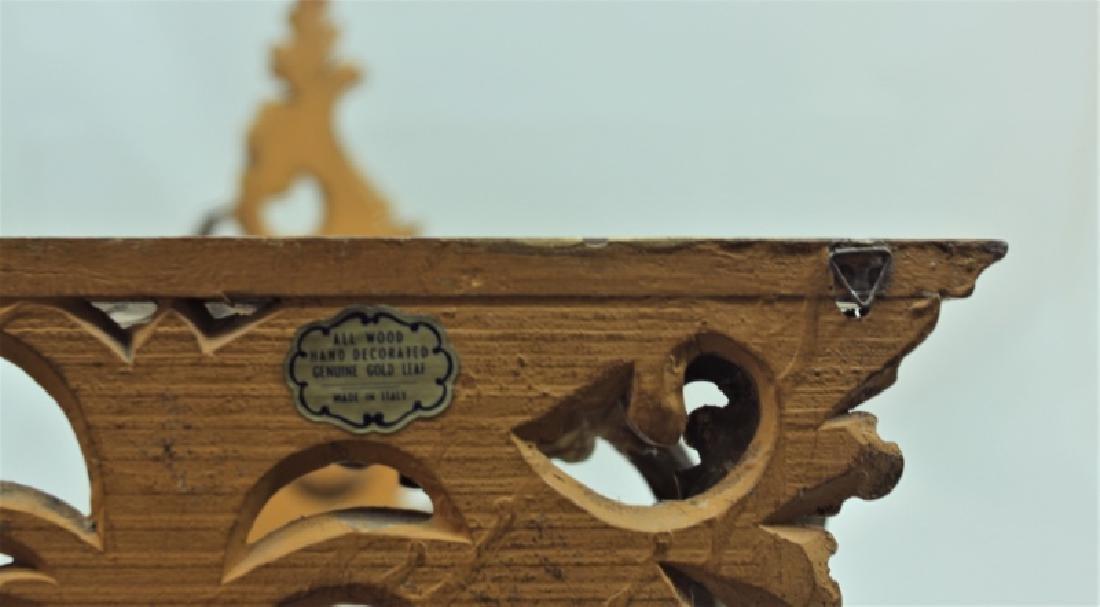 Pair Italian Gilt Wood Rococo Wall Bracket Shelves - 8