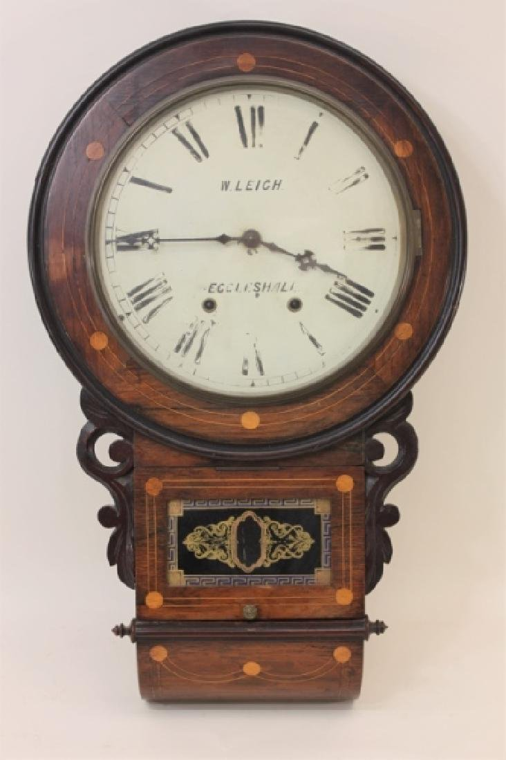 19C W Leigh Eccelshall Wall Mounted Station Clock