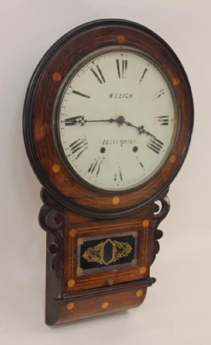 19C W Leigh Eccelshall Wall Mounted Station Clock - 2