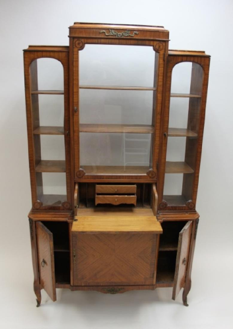 Antique French China Closet w Display Cabinet - 5