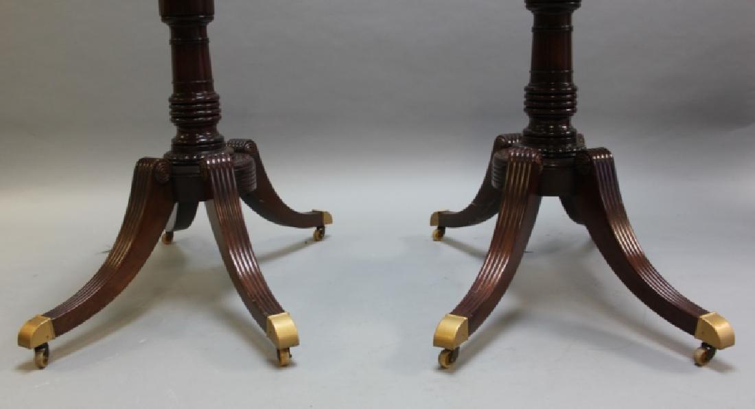 Mahogany Pedestal Dining Table w Banded Inlay - 3