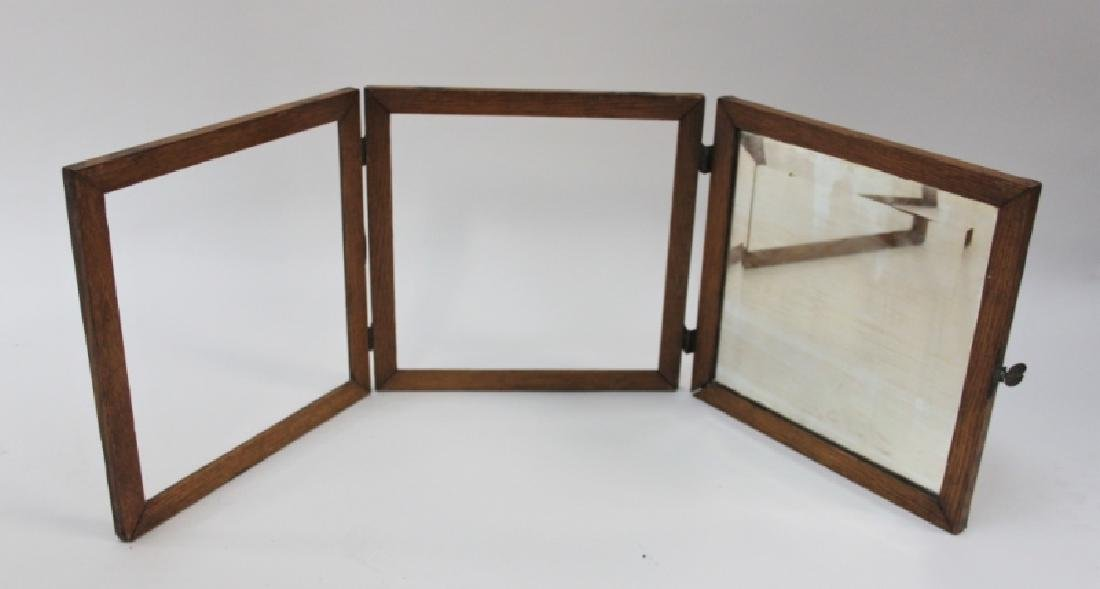 Brass Clad Oak Cherub Mounted 3 Panel Table Screen - 5