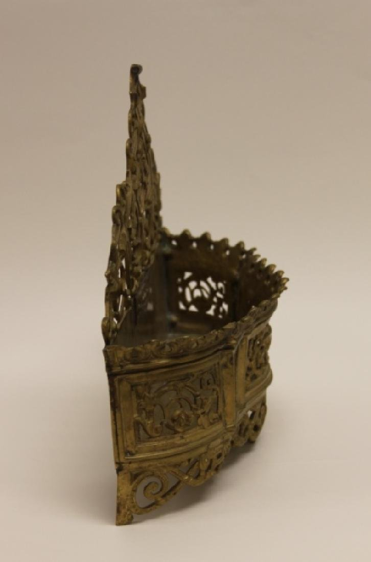 Art Nouveau English Brass Letter Box / Basket - 6