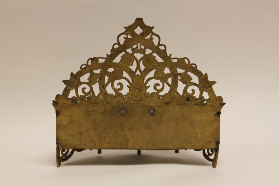 Art Nouveau English Brass Letter Box / Basket - 8