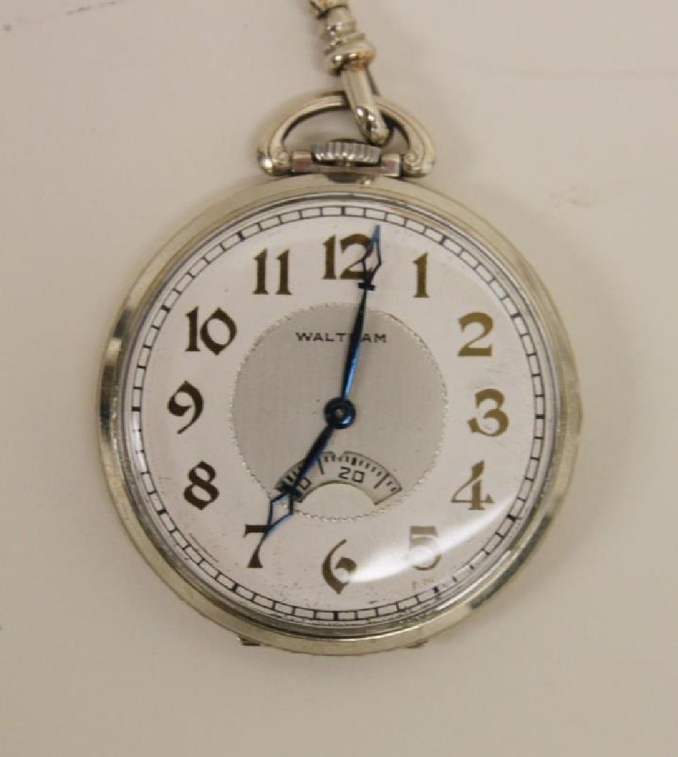 Waltham USA 14K 19 Jewel Pocket Watch Chain Knife - 3