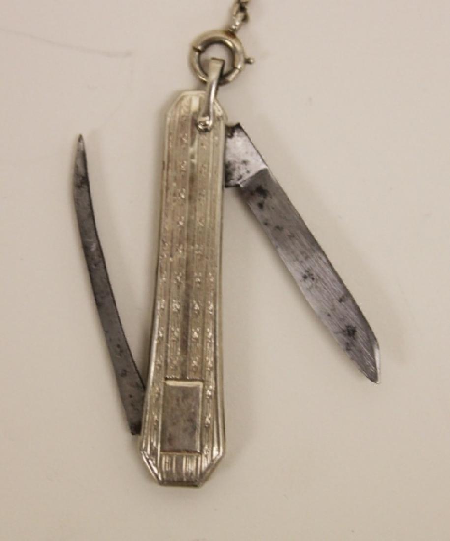 Waltham USA 14K 19 Jewel Pocket Watch Chain Knife - 4