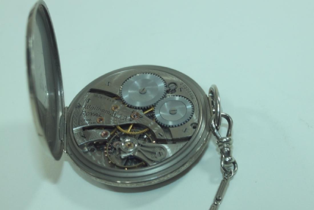 Waltham USA 14K 19 Jewel Pocket Watch Chain Knife - 5