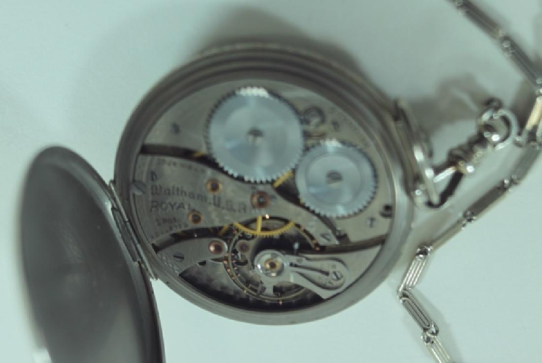 Waltham USA 14K 19 Jewel Pocket Watch Chain Knife - 6