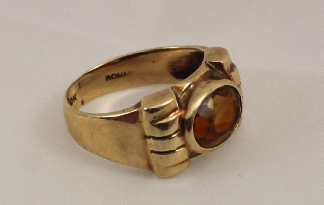 10k Italian Gold Ring w Citrine Gemstone