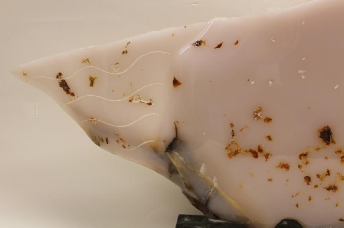 "Gloria Klar 1920-2014 Large Onyx Sculpture ""Fish"" - 2"