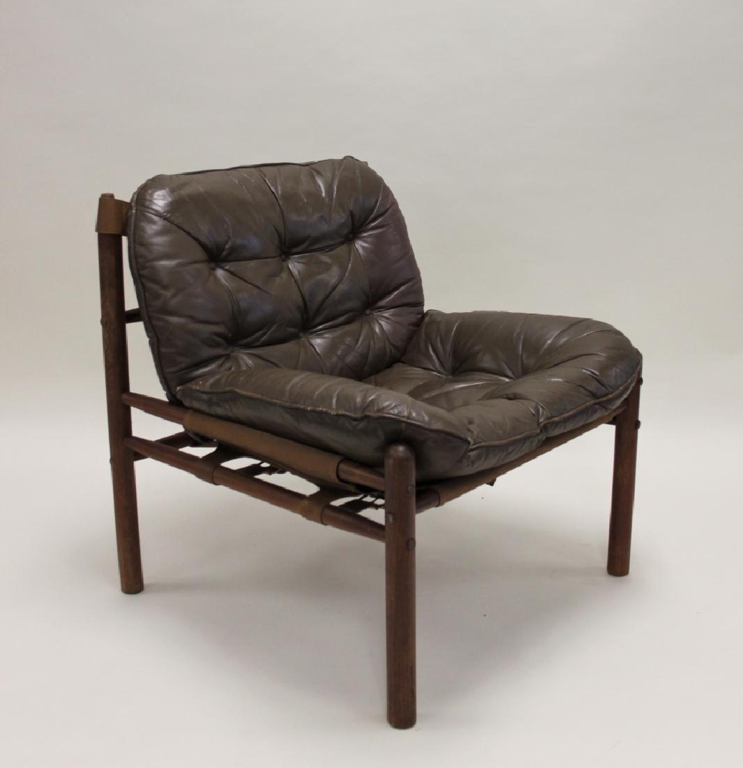 Danish Modern Teak U0026 Leather Safari Chair