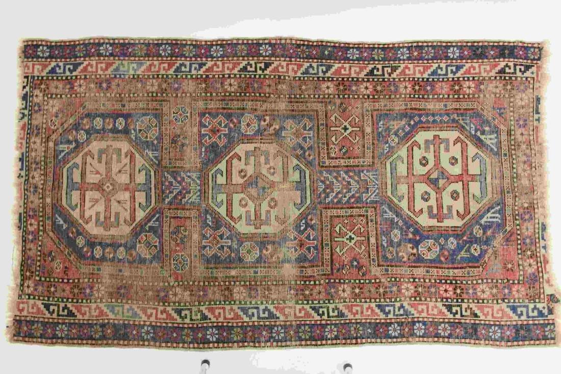 Antique Caucasian Kazak Wool on Wool Rug