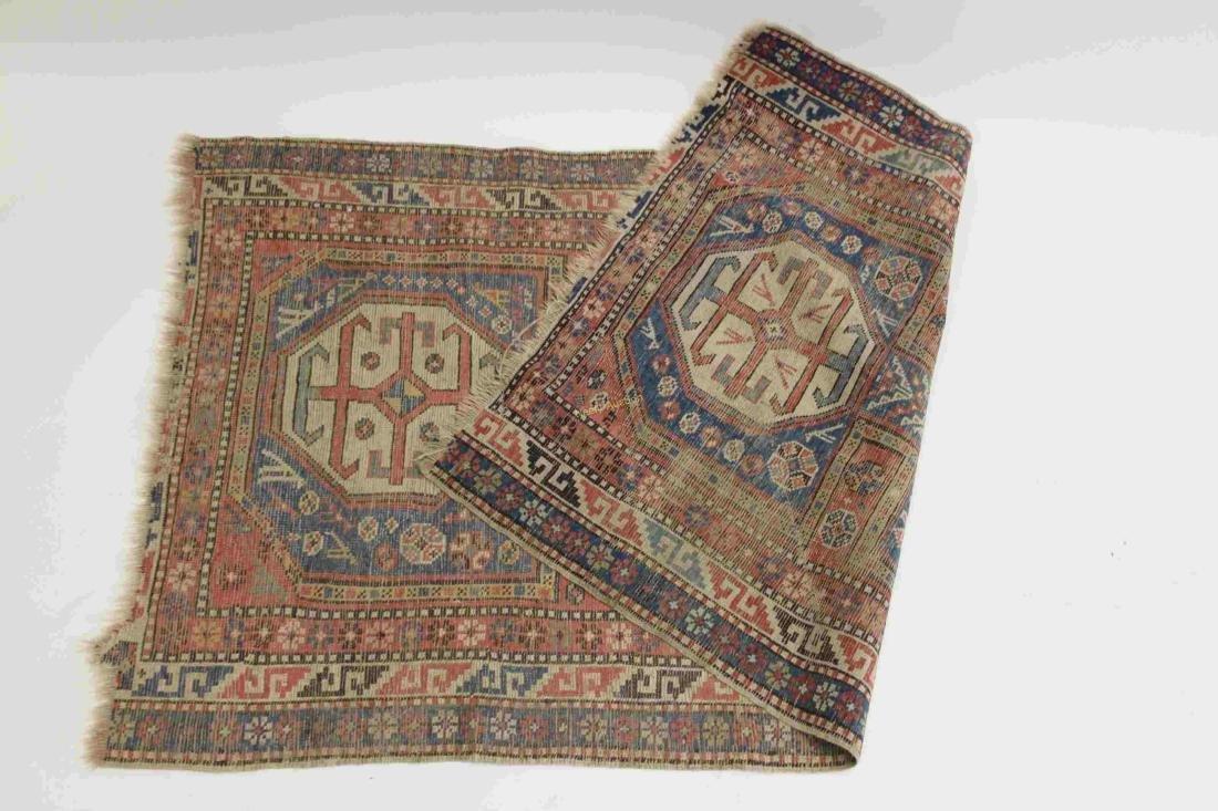 Antique Caucasian Kazak Wool on Wool Rug - 3