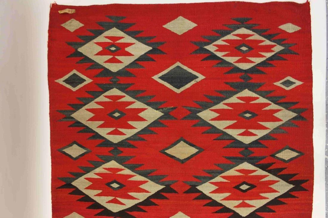 19/20c Navajo American Indian Wool Rug / Blanket - 10