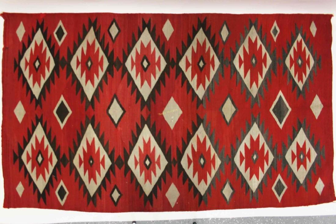 19/20c Navajo American Indian Wool Rug / Blanket