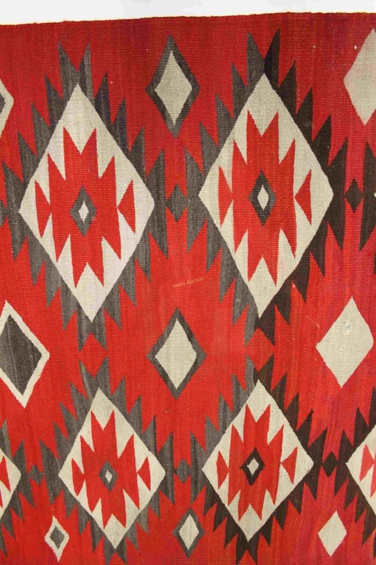 19/20c Navajo American Indian Wool Rug / Blanket - 2