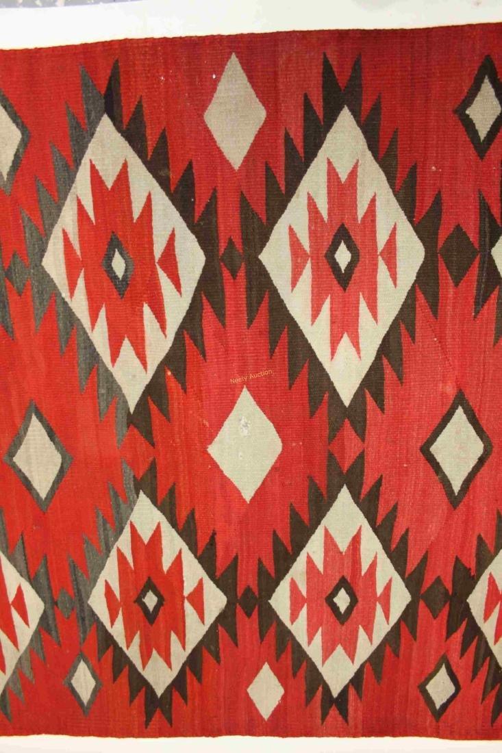 19/20c Navajo American Indian Wool Rug / Blanket - 3