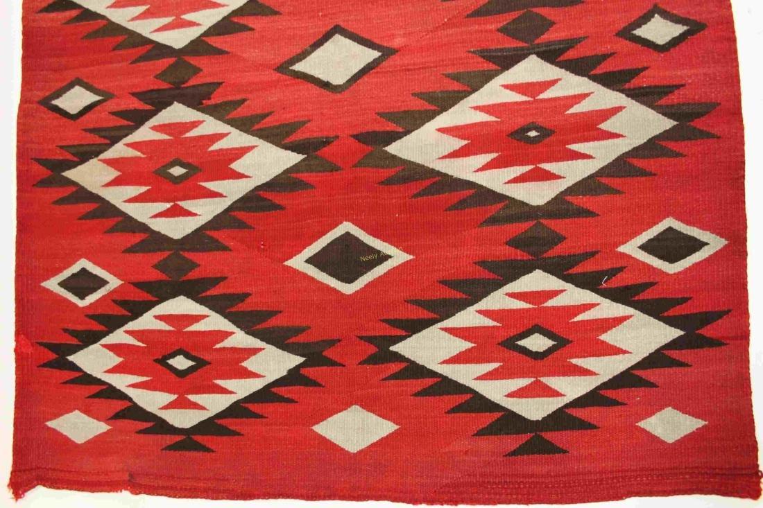 19/20c Navajo American Indian Wool Rug / Blanket - 4