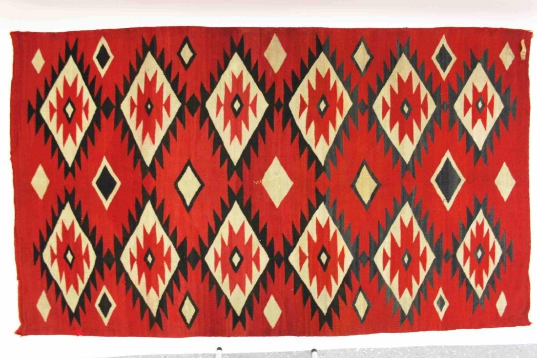 19/20c Navajo American Indian Wool Rug / Blanket - 5