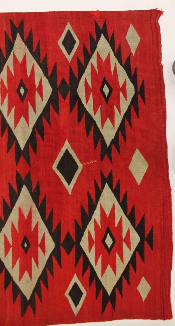 19/20c Navajo American Indian Wool Rug / Blanket - 6