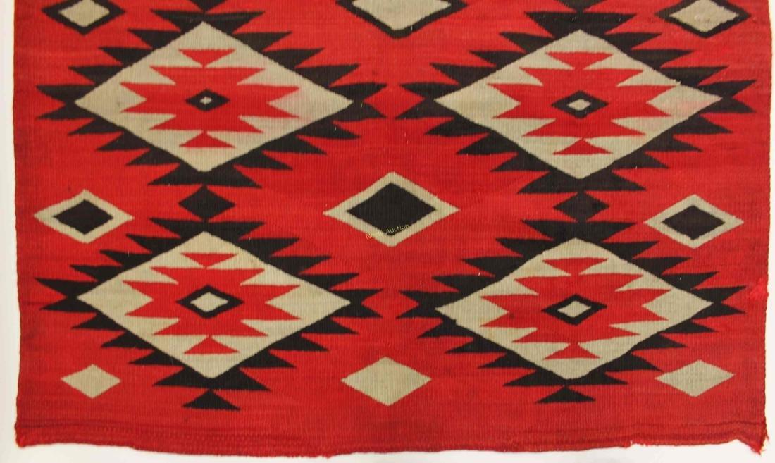 19/20c Navajo American Indian Wool Rug / Blanket - 7
