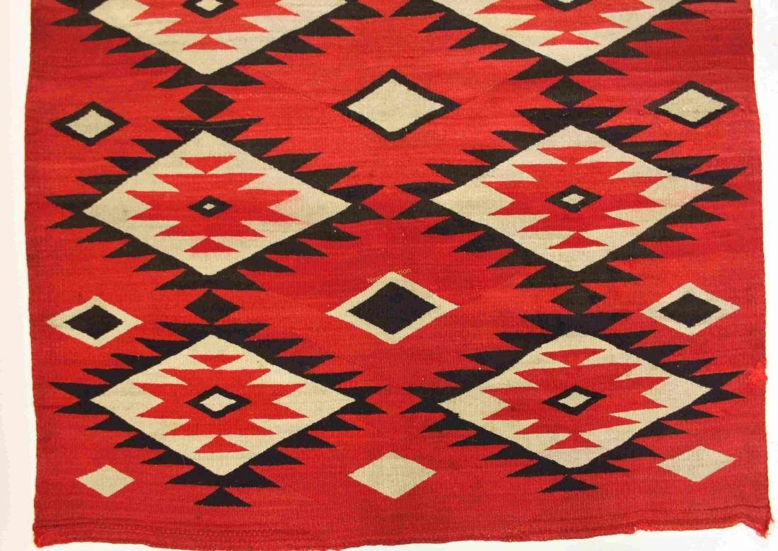19/20c Navajo American Indian Wool Rug / Blanket - 8