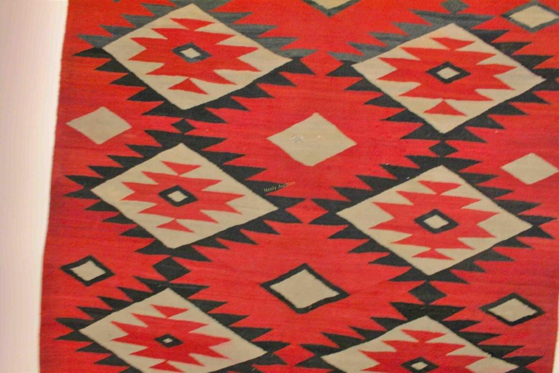 19/20c Navajo American Indian Wool Rug / Blanket - 9