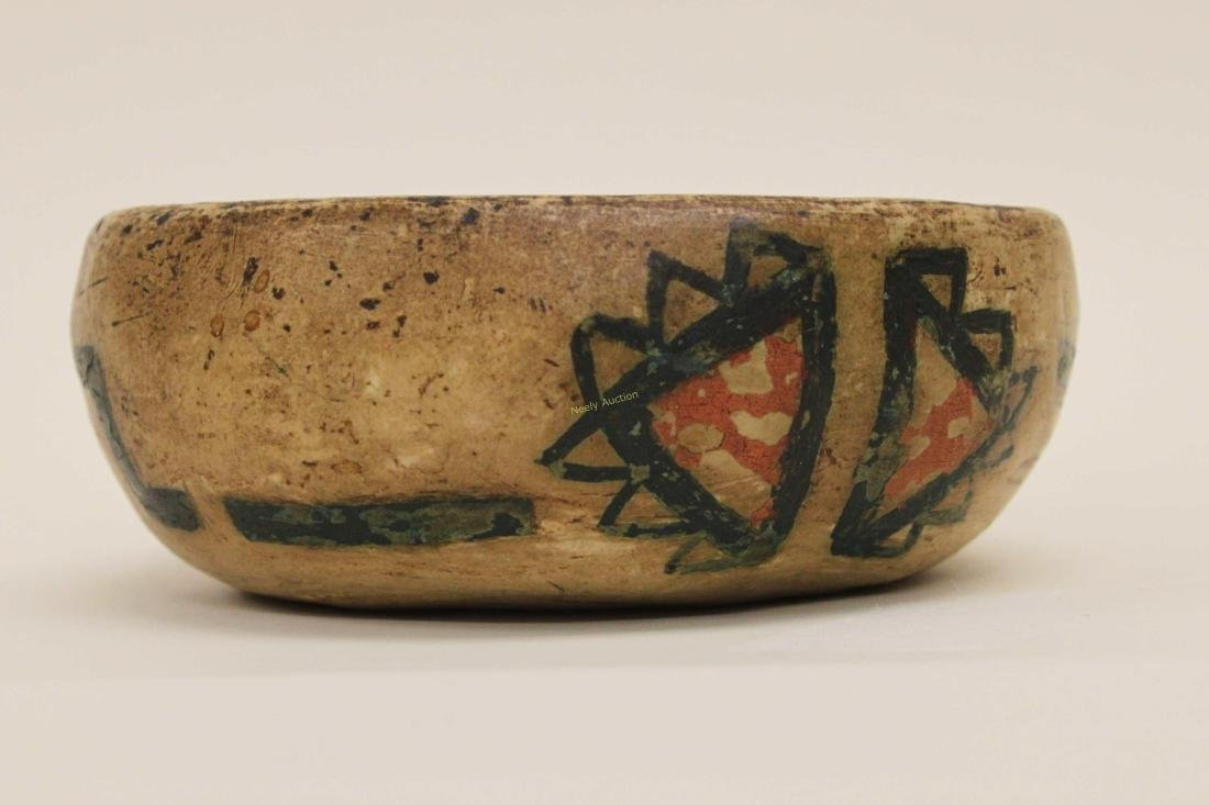 19c Isleta Pueblo American Indian Pottery Bowl - 3