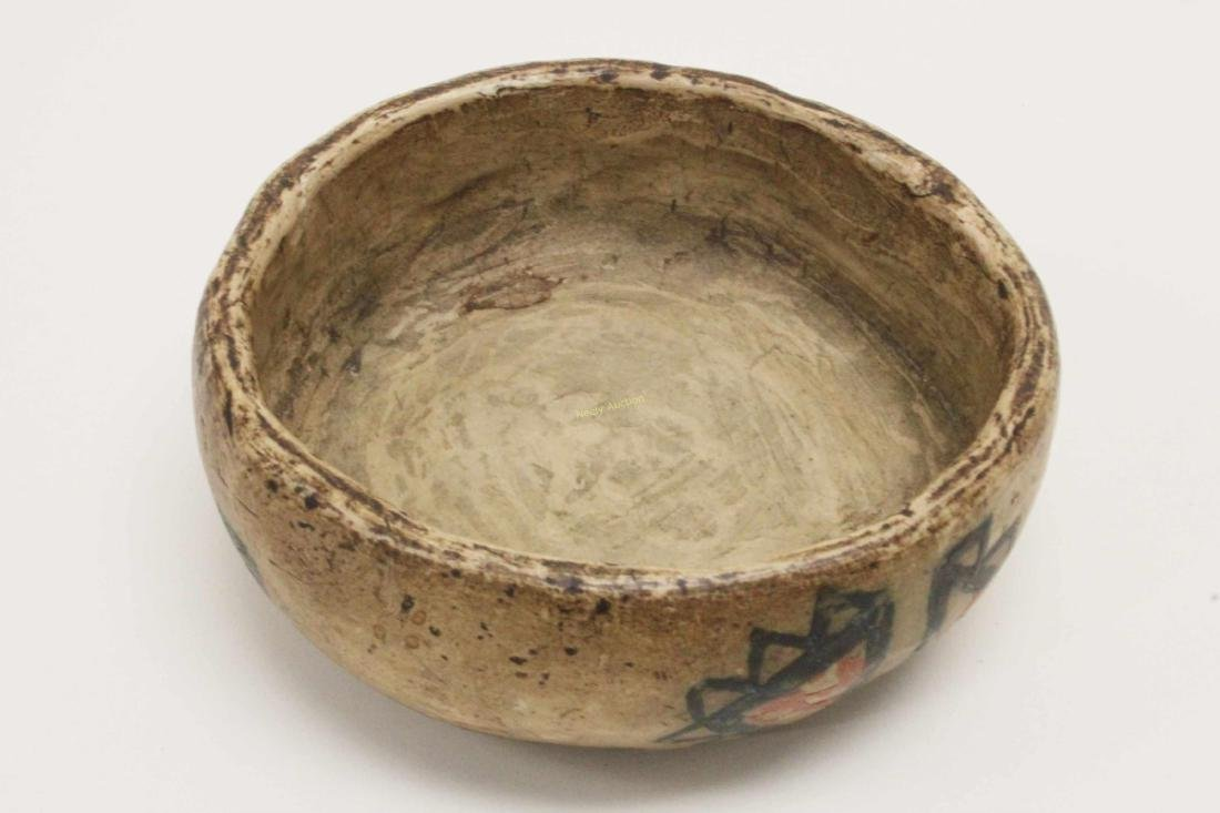 19c Isleta Pueblo American Indian Pottery Bowl - 5