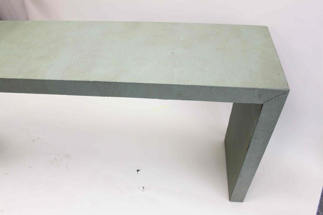 Large MCM Shagreen Leather Finished Console Table - 4
