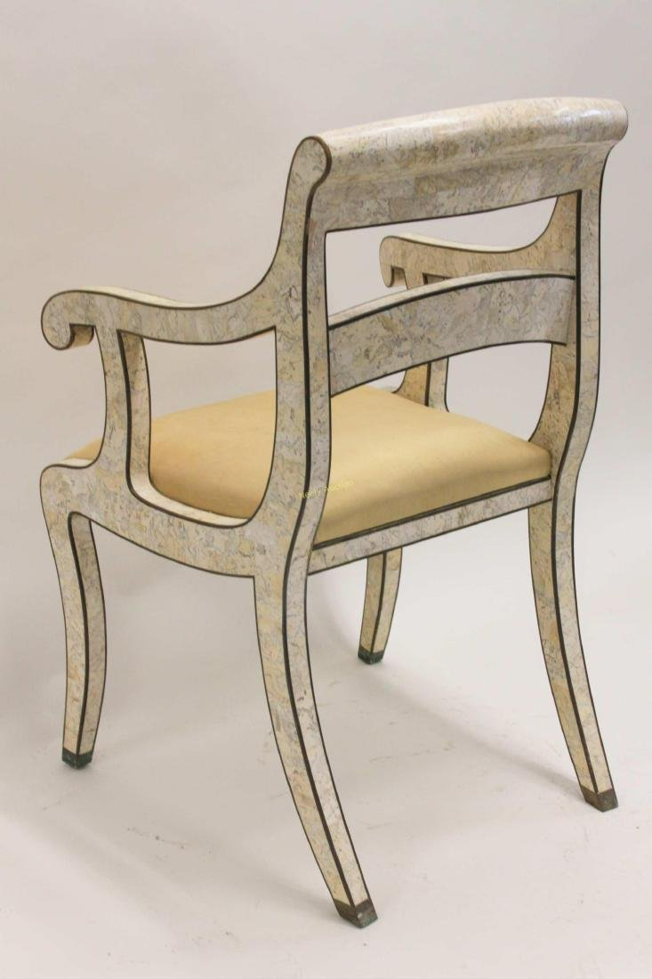 Maitland Smith Regency Marble & Brass Accent Chair - 6