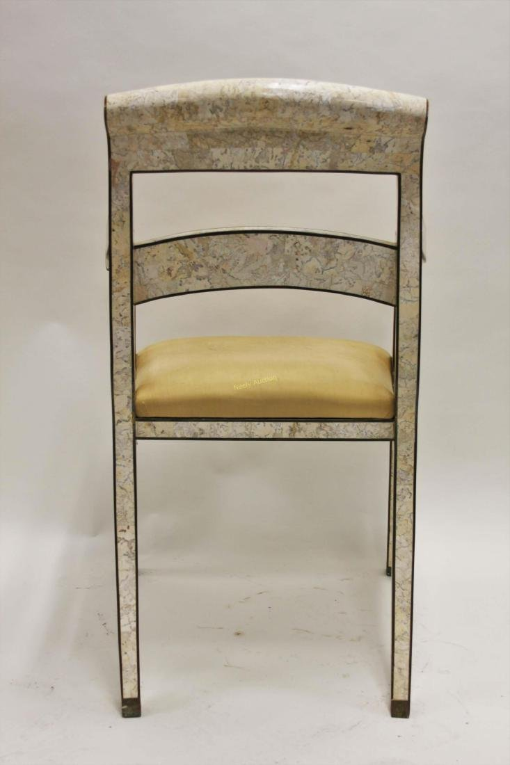Maitland Smith Regency Marble & Brass Accent Chair - 7