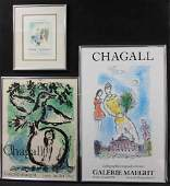 (3) Marc Chagall Exhibition Posters (1) Signed