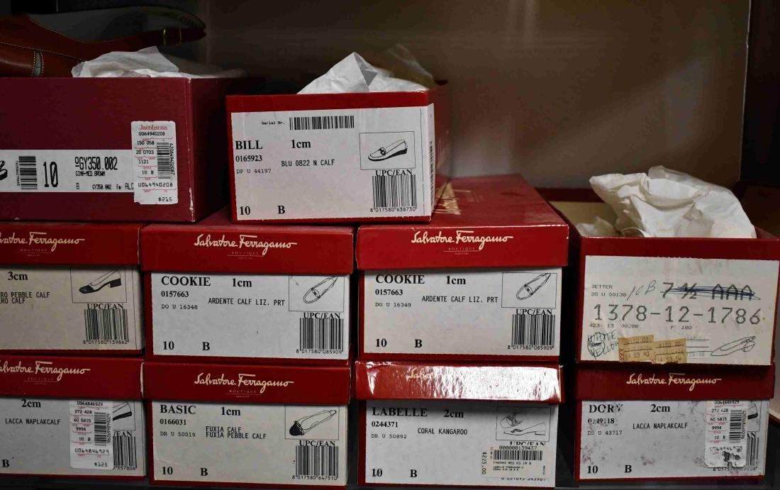 8 Pr Ferragamo & Bruno Magli Ladies Shoes Size 10B