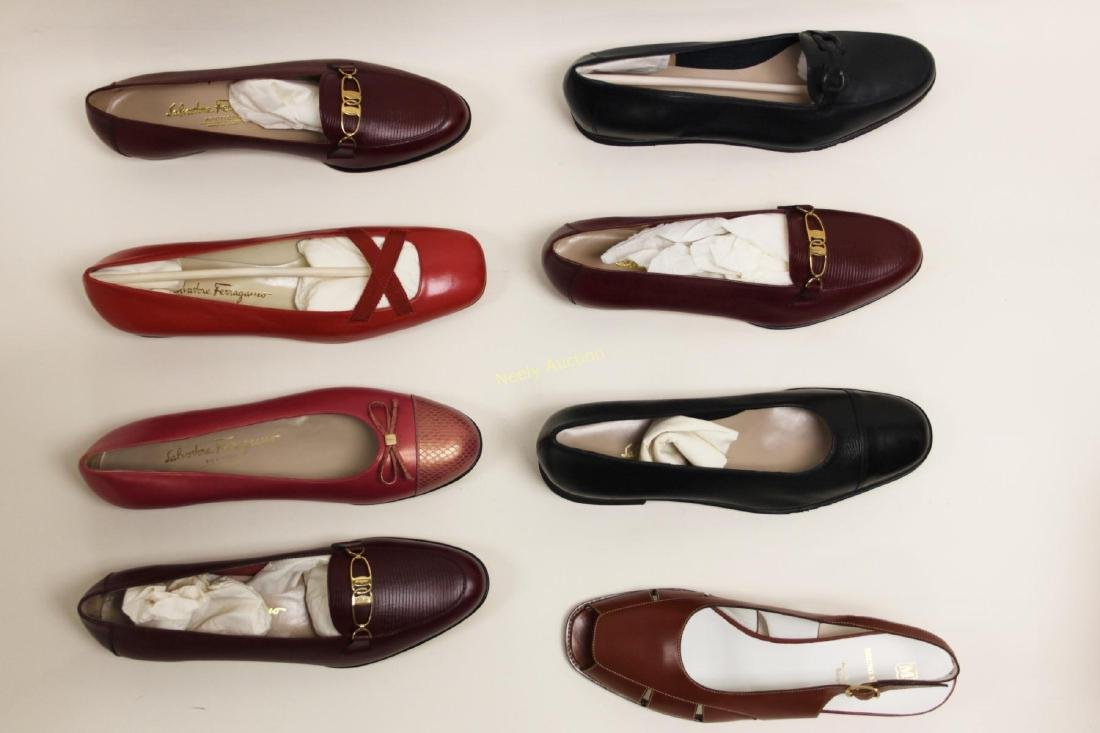 8 Pr Ferragamo & Bruno Magli Ladies Shoes Size 10B - 5