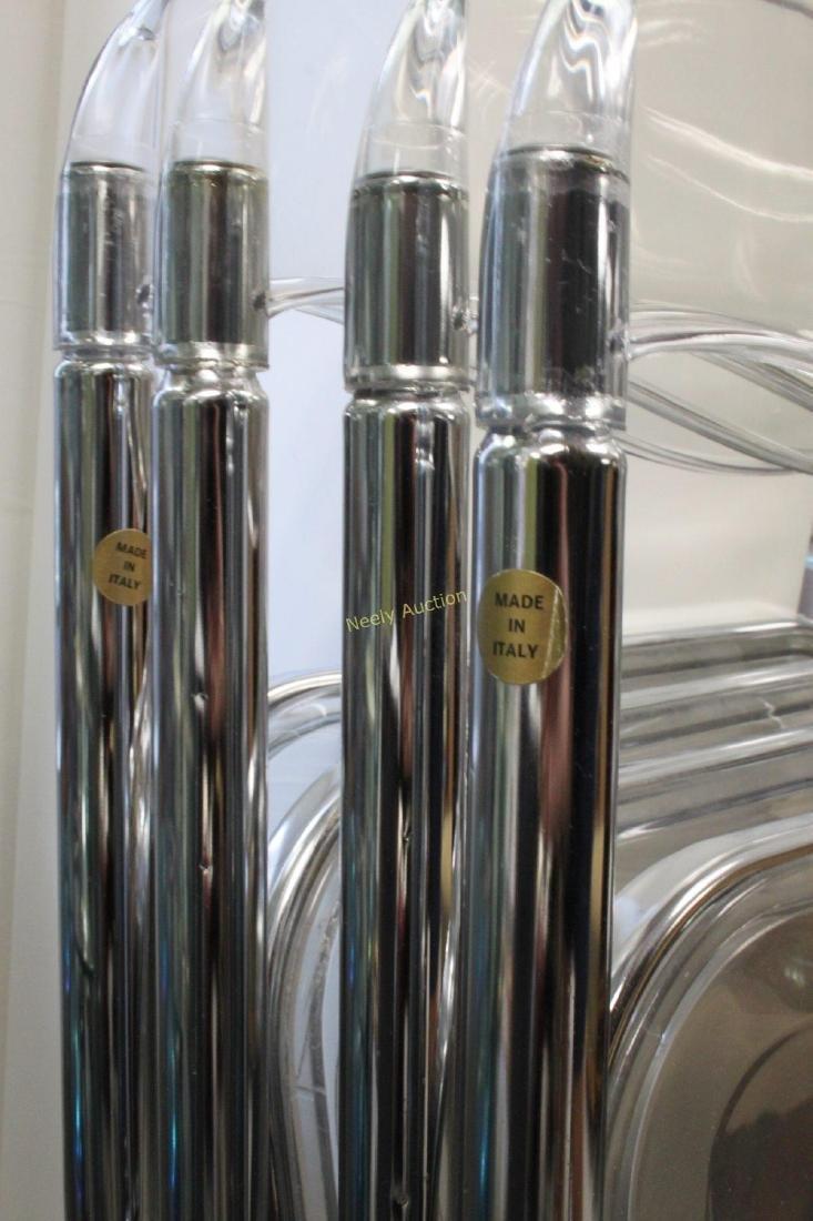 (4) Italian Lucite & Chrome Frame Folding Chairs - 5