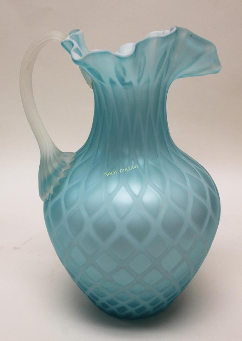 (2)pc Quilted Satin Glass & (1) Phoenix Glass Vase - 5