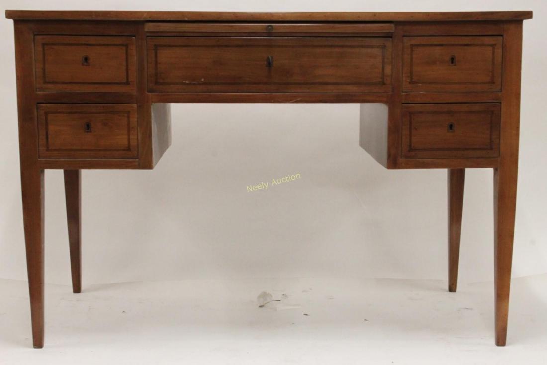 MCM Italian Inlay Top & Fruitwood Writing Desk - 2