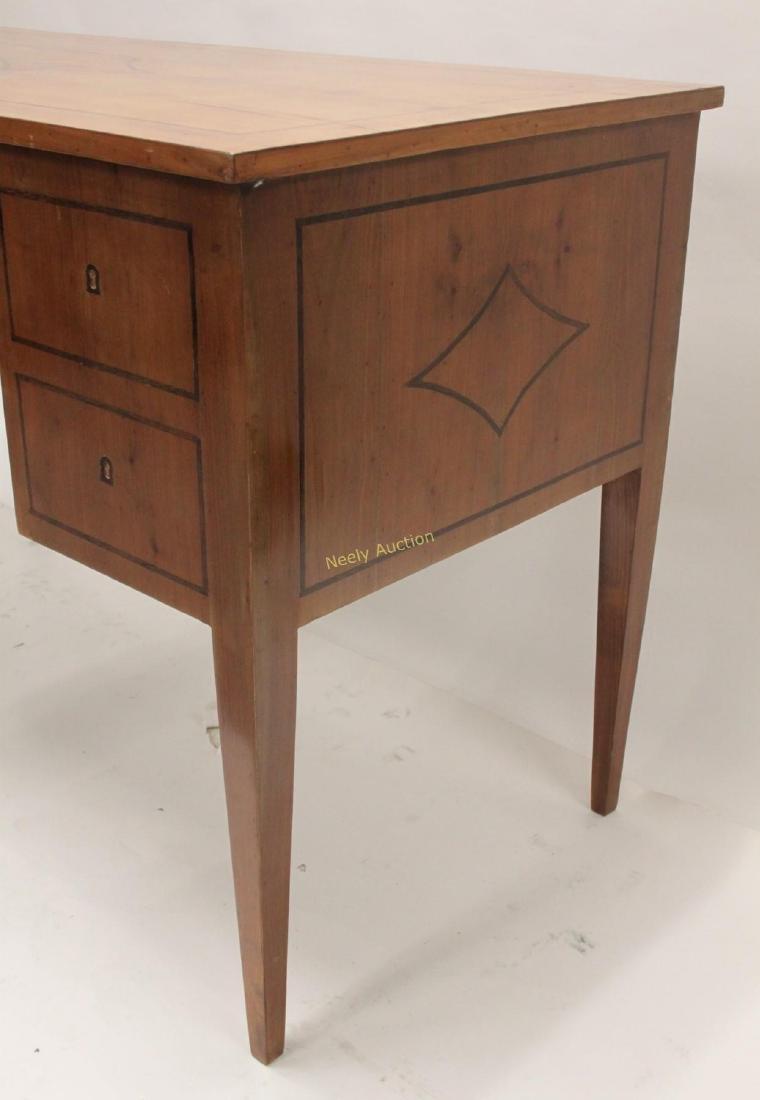 MCM Italian Inlay Top & Fruitwood Writing Desk - 3