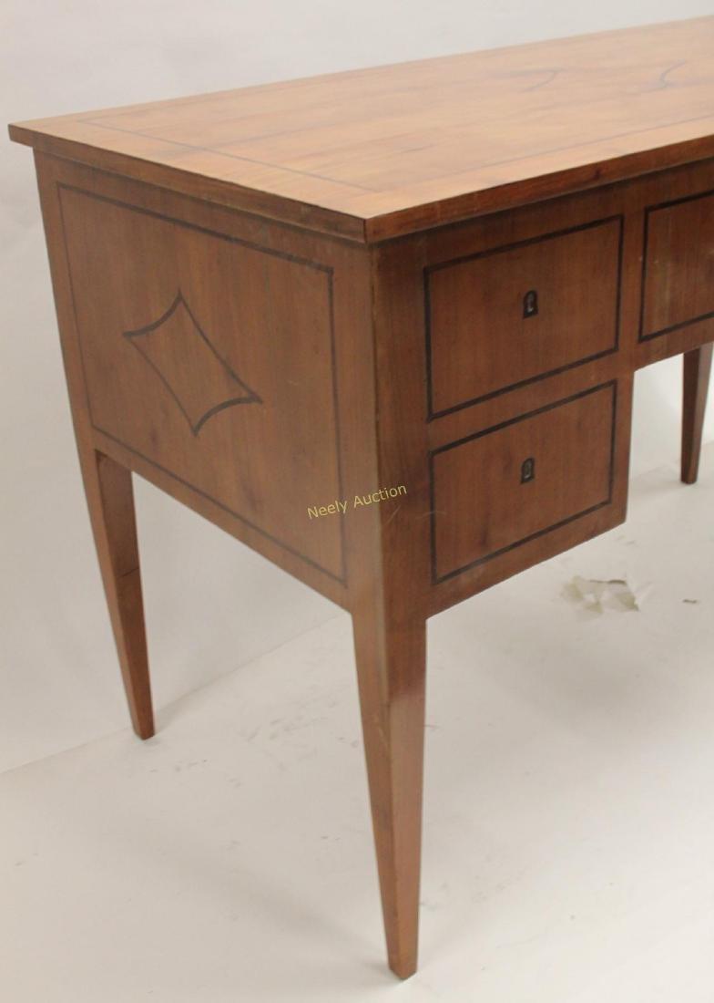 MCM Italian Inlay Top & Fruitwood Writing Desk - 4